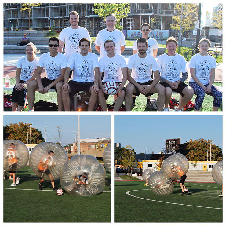 Synergy Partners come out on top in Bubble Soccer Blowout!